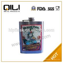 transfert d'impression inox hip flacon flacon de vin bouteille d'eau