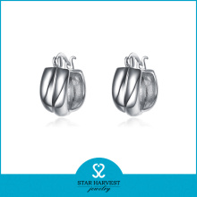 Charming Fine Silver Hoop Earrings Wholesale