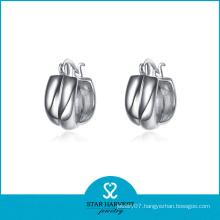 Charming Fine Silver Hoop Earrings Wholesale