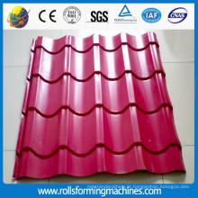 rolo de telha vitrificada aço cor formando máquinas