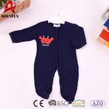 venda quente adorável algodão criança roupa atacado macacão de bebê