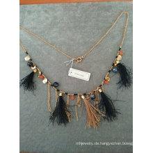 Mode Bling Stoff Halskette mit Quaste