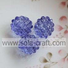 12x14MM Blue Color Imitation Crystal Berry Beads For DIY Bracelet