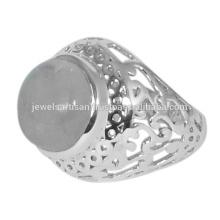 Designer Rainbow Moonstone Gemstone 925 Sterling Silver Ring