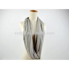 Moda algodão jersey lantejoula infinidade loop cachecol