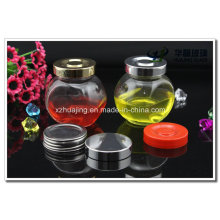 Hot Sale 180ml Spice Glass Storage Jar with Stainless Cap