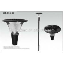 Novo e barato plástico led jardim lâmpada solar