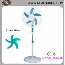 Electrical Stand Fan/Pedestal Fan with 5 Ox Horn Blade-Fs408b
