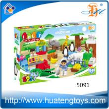 Niños educativos al por mayor que aprenden el juguete de los bloques huecos diy del edificio