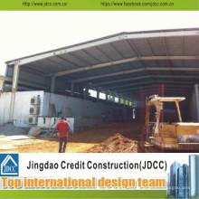 Grandes cobertizos de estructura de acero de apertura