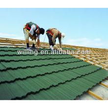 Telha de metal de pedra colorida de alta qualidade 2014 / telhado de metal romano de alta qualidade