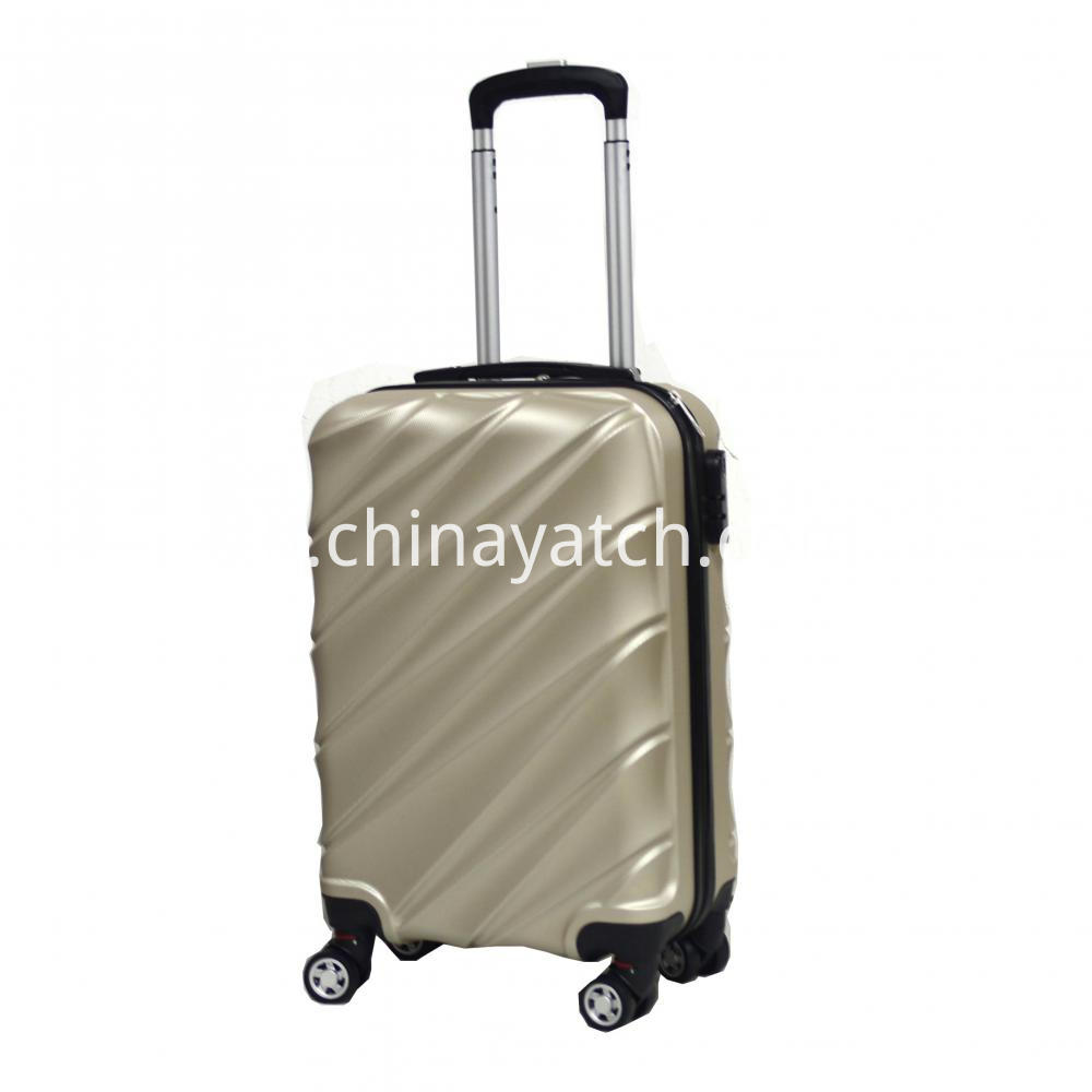 silver trolley suitcase