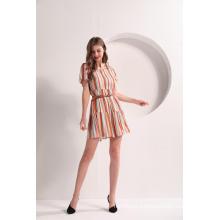 Women's Striped Tiered Summer Dress
