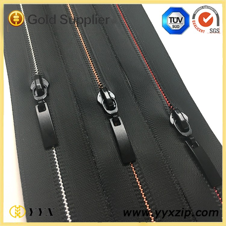 special color plating teeth zipper