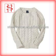 Nuevo diseño del suéter del bebé de las lanas del cable 100% de la manera del diseño