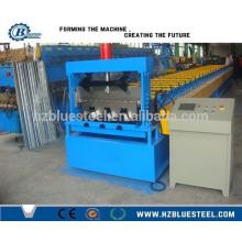 PLC Soporte de acero automático hidráulico Plataforma de suelo Decking Roll formando máquina con gofrado