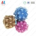 Deep color flower mix mesh sponge ball