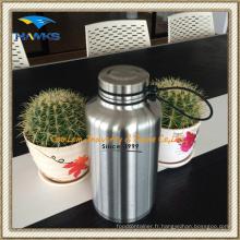 Bouteille d'eau de vide de l'acier inoxydable 1.8L / bouteille de voyage