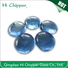 Light Blue Glass Gemstone Fire Pit