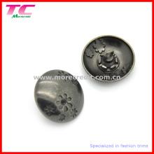 Botón de costura del metal decorativo de la manera para la ropa