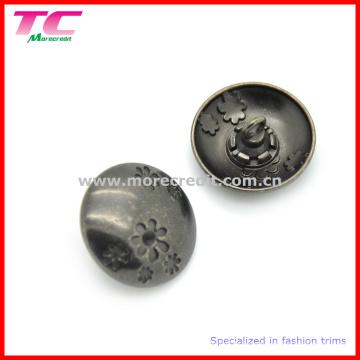 Bouton de couture en métal décoratif à la mode pour vêtements
