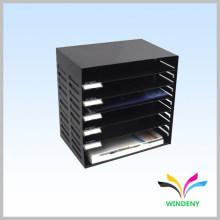 6 шельфе черного металла офиса рабочий стол файл организатор письмо