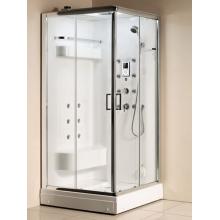 Banheiro de massagem fechado moderno com chuveiro a vapor