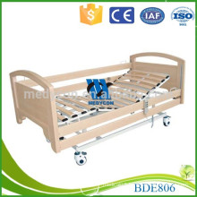 Modern wooden slats metal platform patient electrical bed
