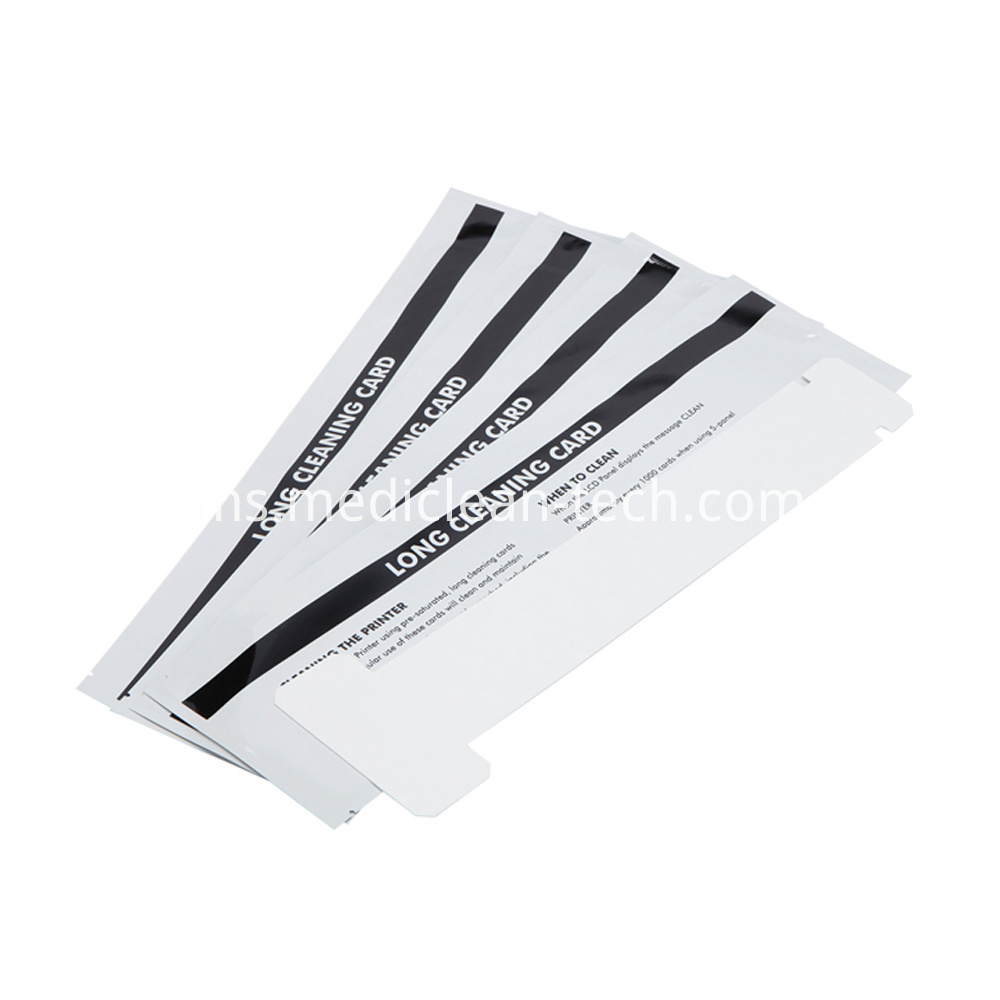Zebra Long T Cleaning Cards 320mm