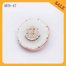MFB47 Art und Weise westliche Metallknöpfe Ankermuster Metallknöpfe 1 Zoll