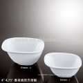 Chinese square deep crockery bowl with happy lines decoration