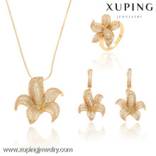 63229-Xuping Crystal Engagement luxo Noble Costume Jewelry Set