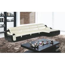 Sofá de cuero moderno, sofá del Recliner de forma L (GB08)