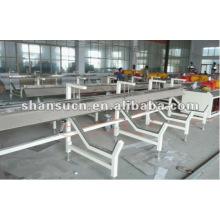 Línea de producción de perfiles de plástico / madera WPC