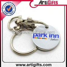 Customized printed metal trolley coin &keyring