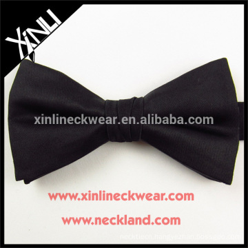 100% Handmade Perfect Knot Wholesale Silk Woven Black Bow Ties For Men