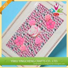 Розовый цветок акриловый камень наклейка в высоком качестве