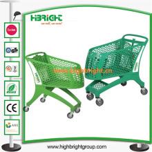Todo o carrinho de compras de supermercado de plástico