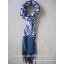 Новый вискозный шарф с кисточкой