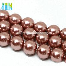 10mm runde rosa natürliche Muschel Perlen Perlen zum Verkauf