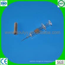 Einwegglas Vorgefüllte Spritze mit Nadel
