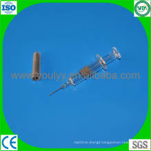 Disposable Glass Prefilled Syringe with Needle