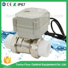 2 vías de latón niquelado eléctrico control de bola PP-R con actuador motorizado válvula
