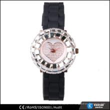 Reloj brillante del cuarzo del caso del shinny brillante
