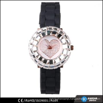 bright shinny case quartz wrist watch