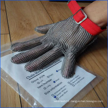 Cut Resistant Meat Gloves in The Form of Hauberk From Stainless Steel