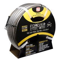 Forever Steel Hose 50' 304 Stainless Steel Garden Hose - As Seen On TV - Lightweight, Kink-Free, and Stronger Than Ever, Durable