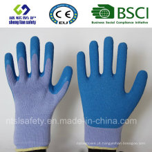 Luvas de borracha de látex, Luvas de trabalho de segurança de acabamento em areia (SL-R502)