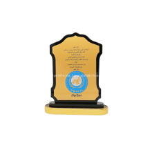 Trofeo de marco de placa de premio de madera de recuerdo personalizado