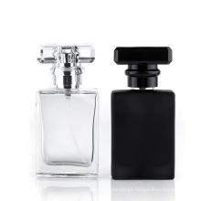 100g black glass square perfume pump bottle